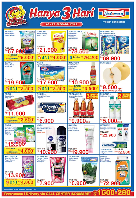 Katalog Promo Indomaret Hanya 3 Hari Terbaru 18 - 20 Januari 2019