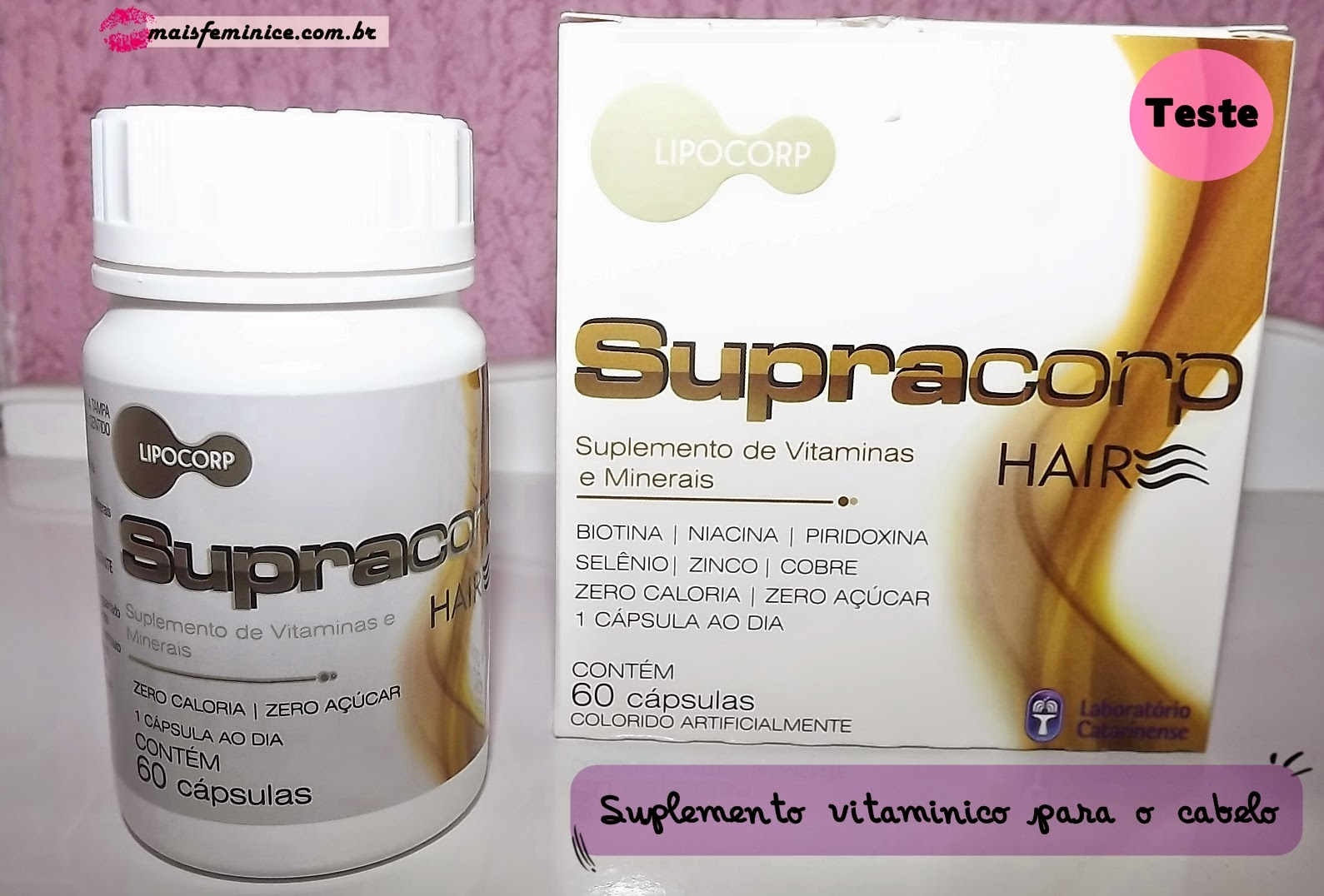 Supracorp Hair - suplemento de vitaminas e nutrientes