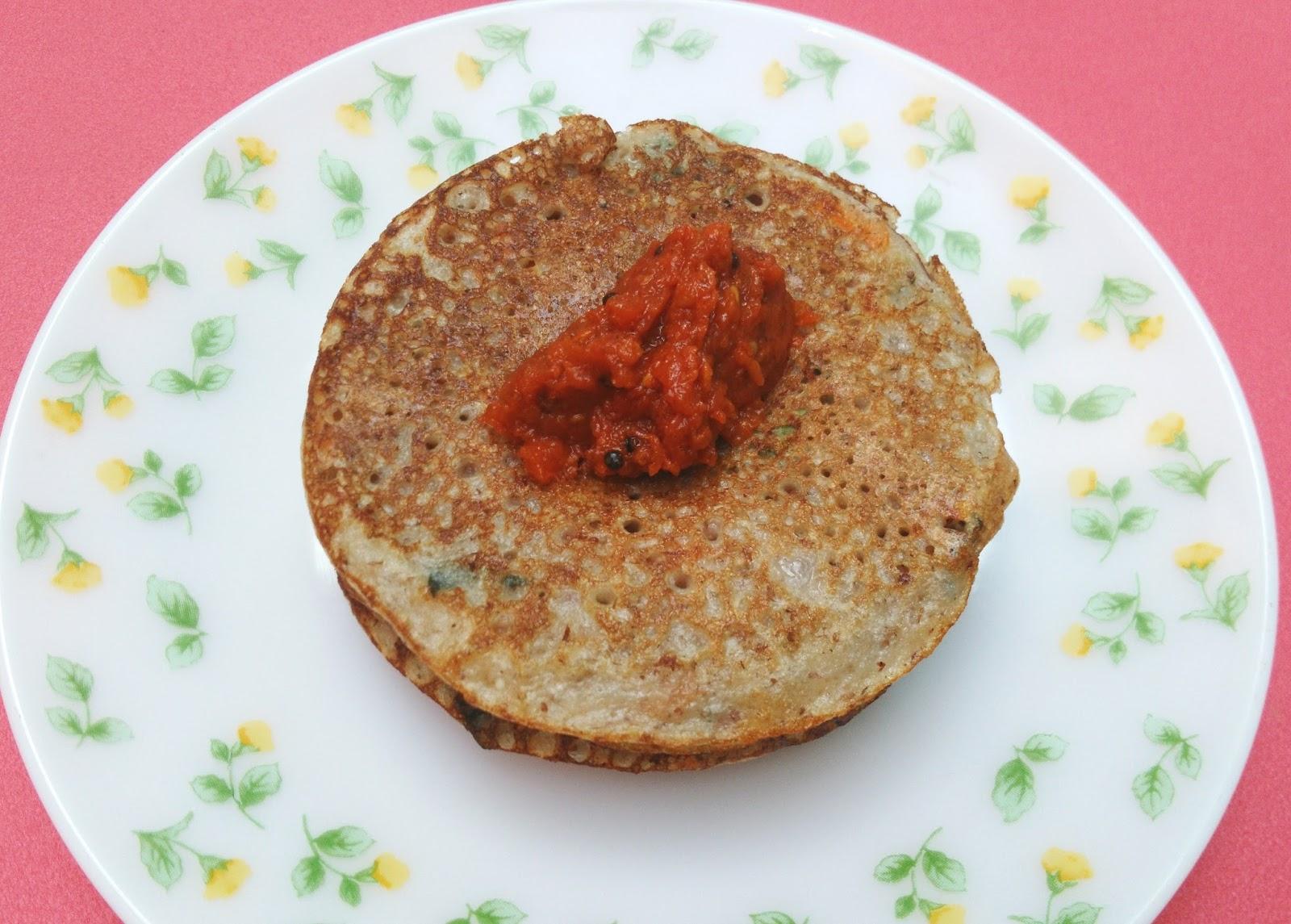 Kathamaba Dosa (Mixed Sprouts Dosa)