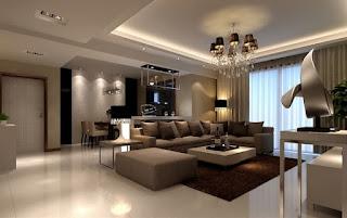 sala marrón beige