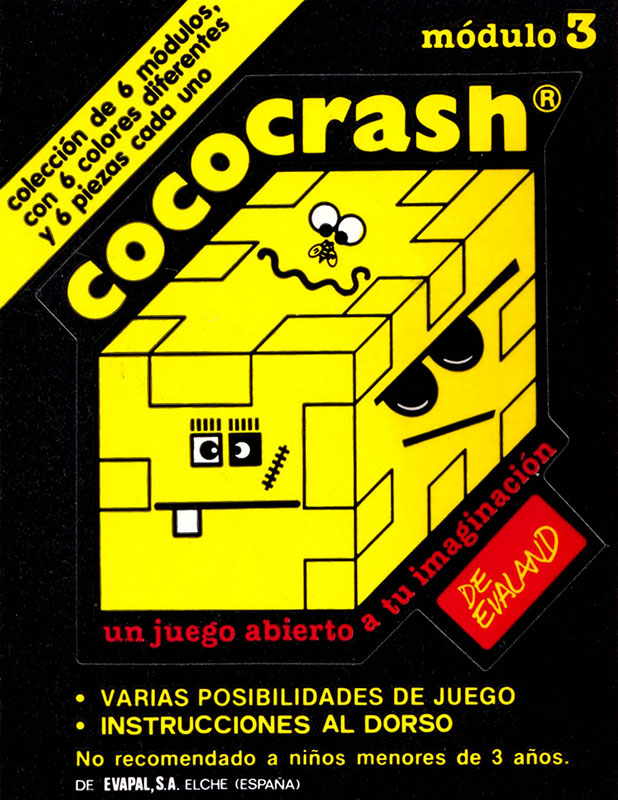 Cococrash 1986 Pegatina nivel 3