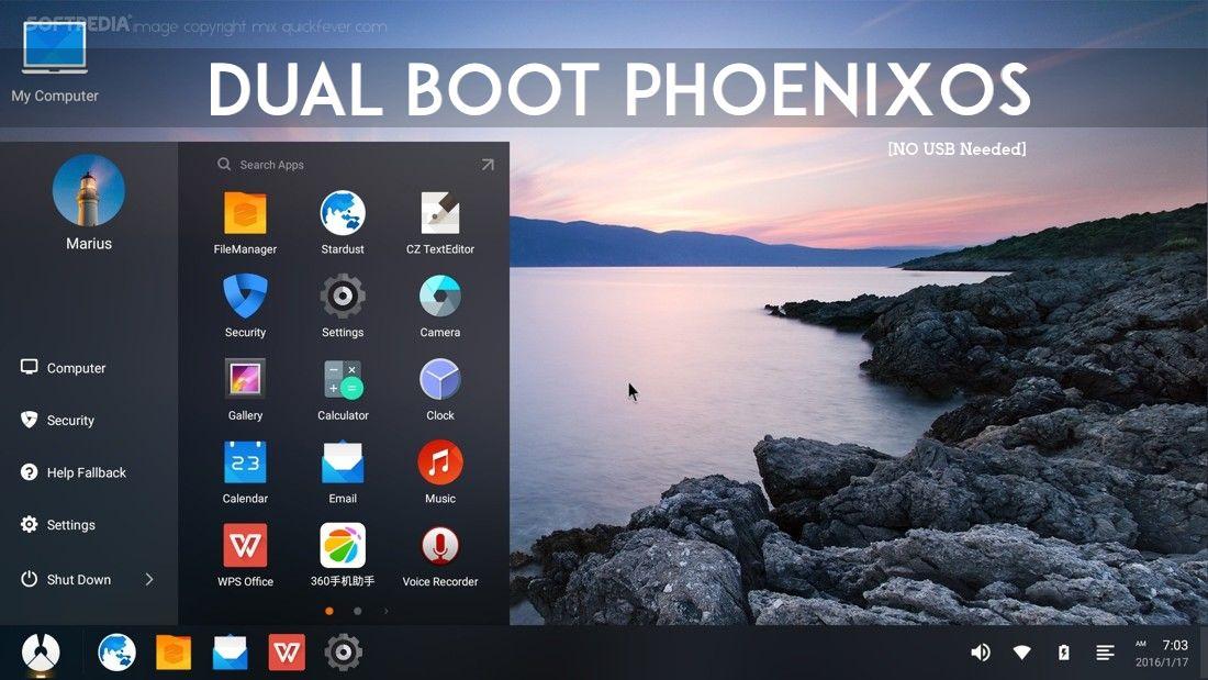 Dual boot phoenix OS