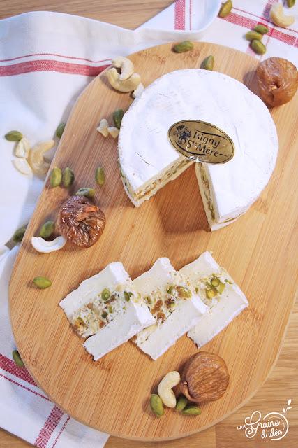 Camembert Farci Noix de cajou Pistache Figue Facile Rapide Apéritif Original Apéro Recette