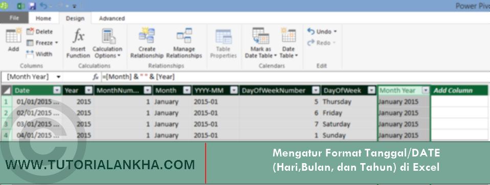 Mengatur Format Tanggal/DATE (Hari,Bulan, dan Tahun) di Excel