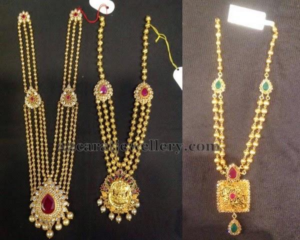 gold beads mala gallery jewellery designs