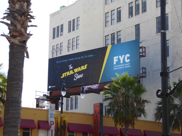 Star Wars Show Emmy nominee billboard