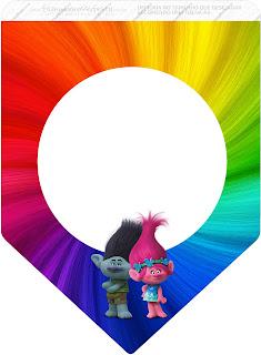 Banderines de Trolls para imprimir gratis.