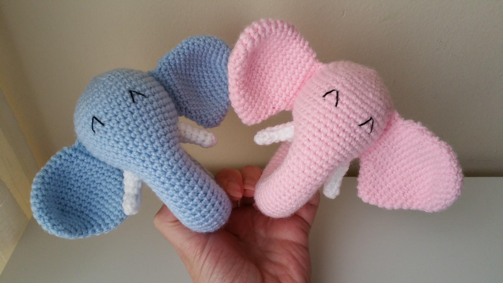 Misamigurumis : Sonajeros de Elefante