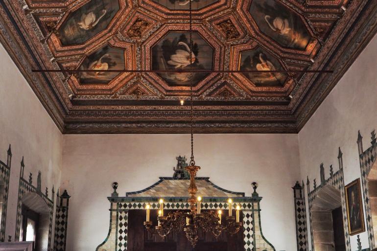 Plafond du palais de Sintra près de Lisbonne