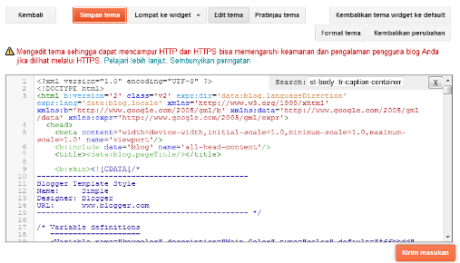 Gambar Posting Mencantumkan CSS Media Screen
