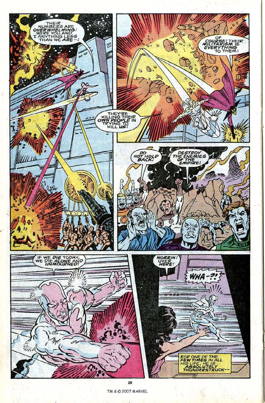 Read online Silver Surfer (1987) comic -  Issue #30 - 22