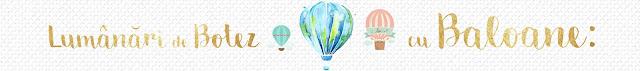 lumanari botez baloane