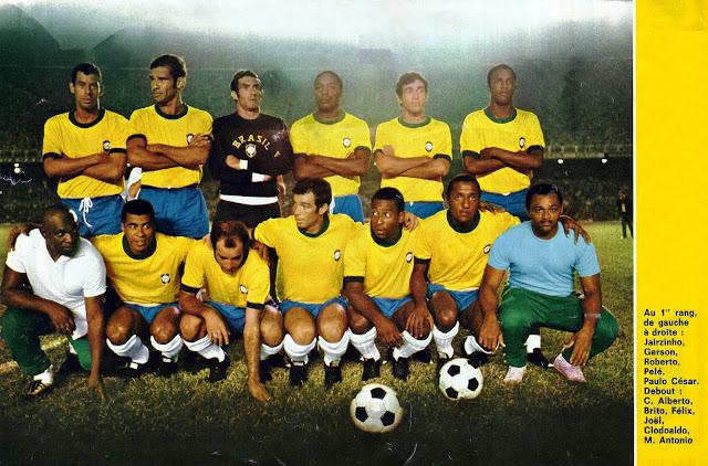 Formación de Brasil ante Chile, amistoso disputado el 26 de marzo de 1970