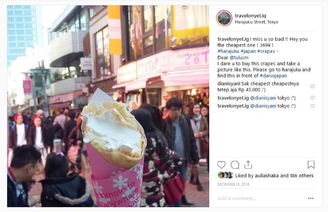 Harajuku's sweet crepes