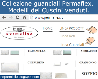 Cuscini Permaflex.Risparmiello Collezione Guanciali Permaflex