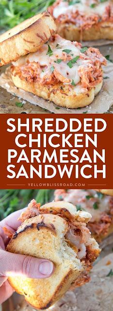 SHREDDED CHICKEN PARMESAN SANDWICH RECIPES