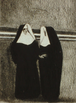 Elvis Presley and Buster Keaton Dressed as Nuns, by F. Lennox Campello