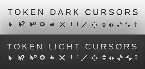 Token dark and light cursor scheme
