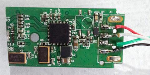 RTL2832U dongle - cut board