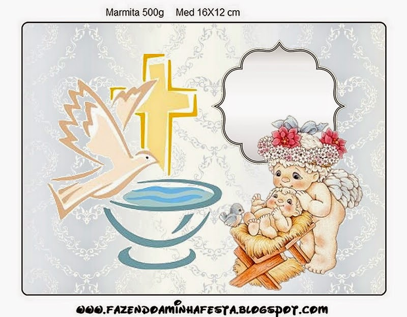 Baptism: Free Printable Candy Bar Labels.