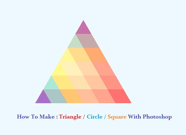 Cara membuat garis kotak bulat segitiga