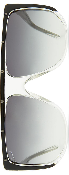 Gucci Studded Plastic Shield Sunglasses