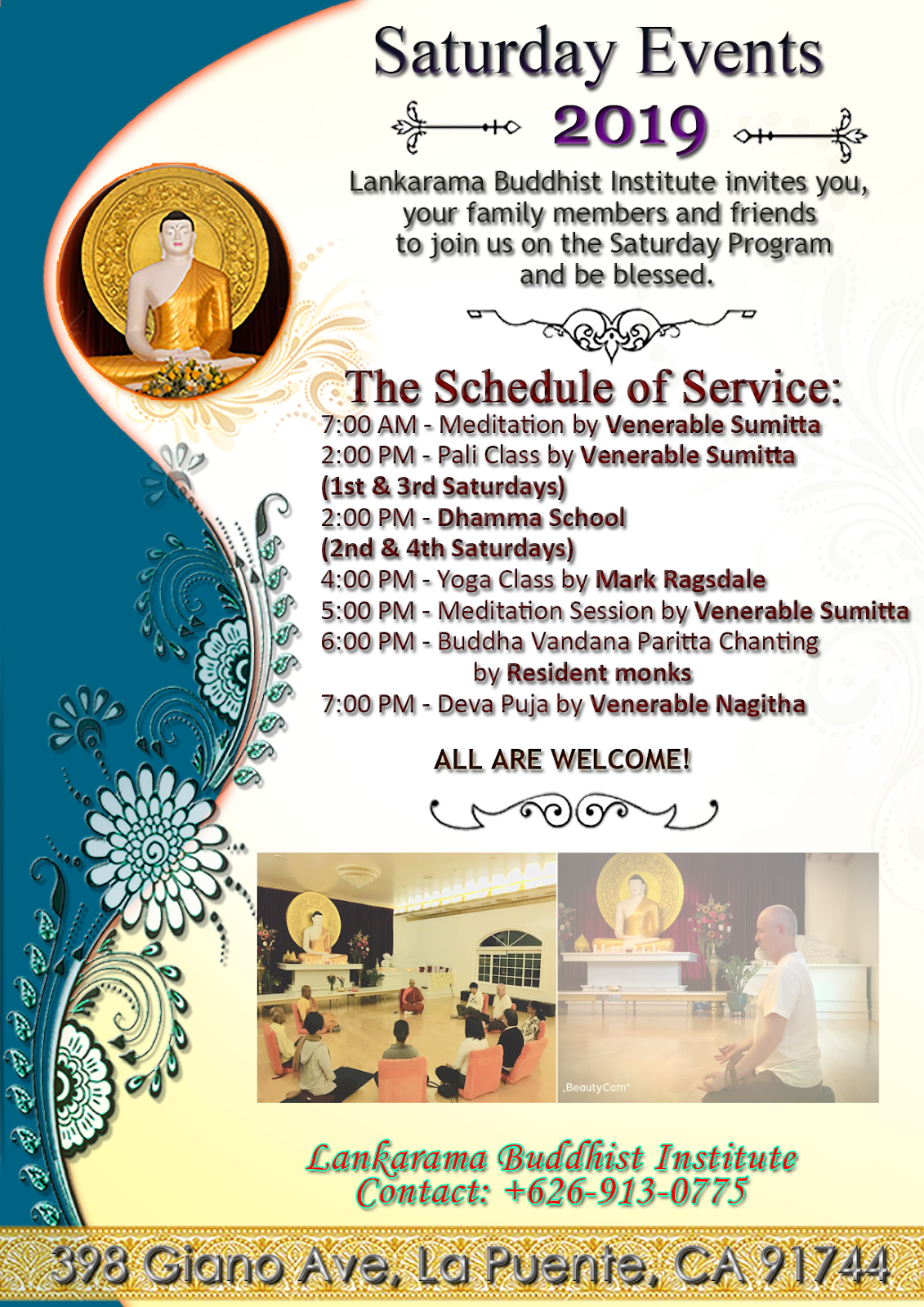 Saturday Programs at Lankarama