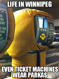 Parka's on ticket machines