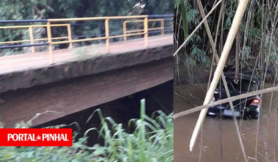 Veículo com placas de Pinhal perde o controle e cai no Rio Jaguari em Andradas (MG)