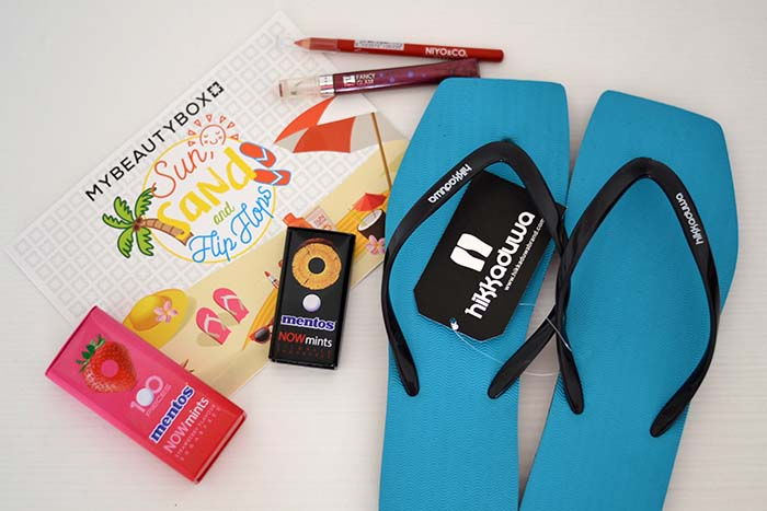 my beauty box sun sand flip flops