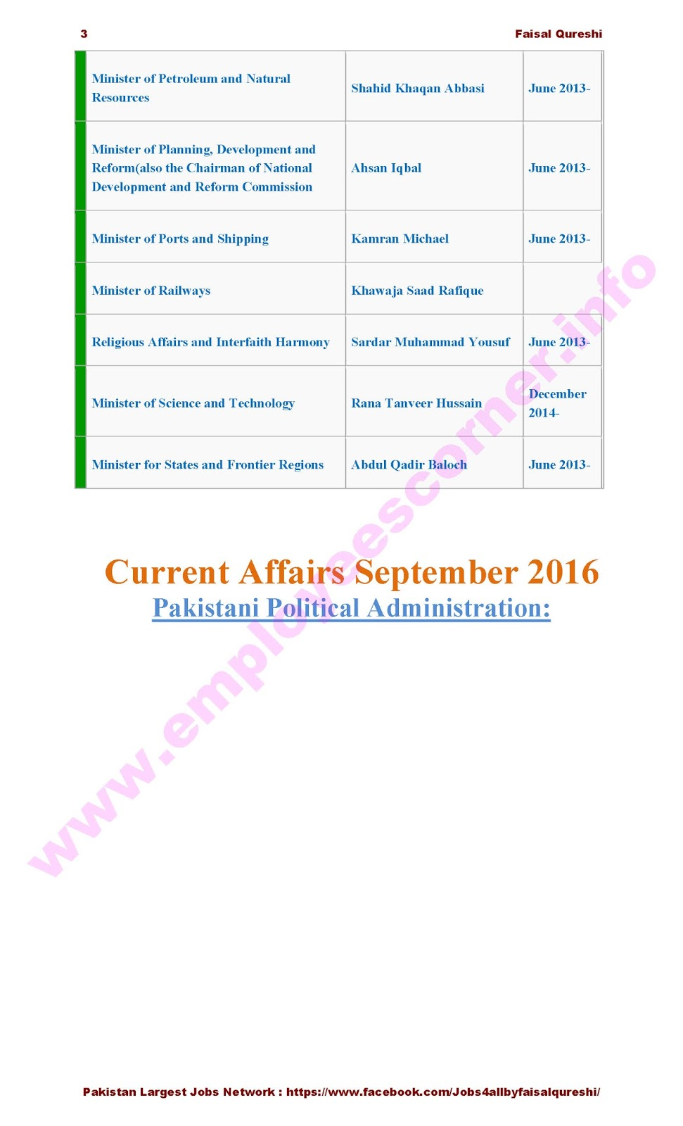 Political Current Affairs Pakistan Solved MCQs Past Papers Pakistan