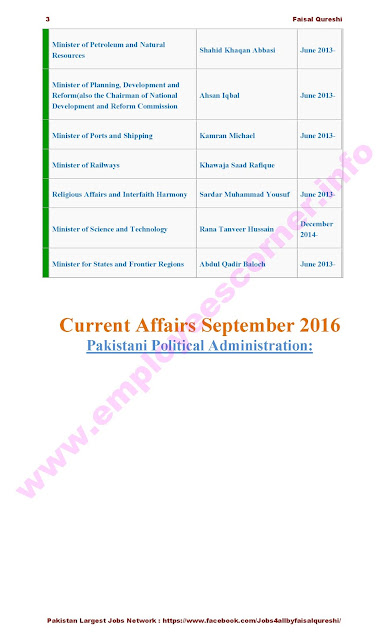 Political Current Affairs Pakistan