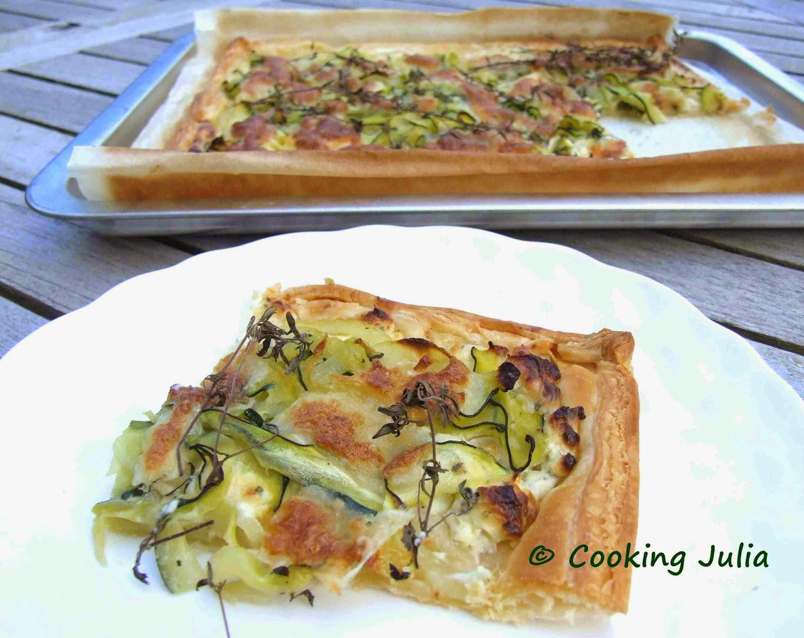 Cooking julia tarte fine au boursin et la courgette - Courgette boursin cuisine ...
