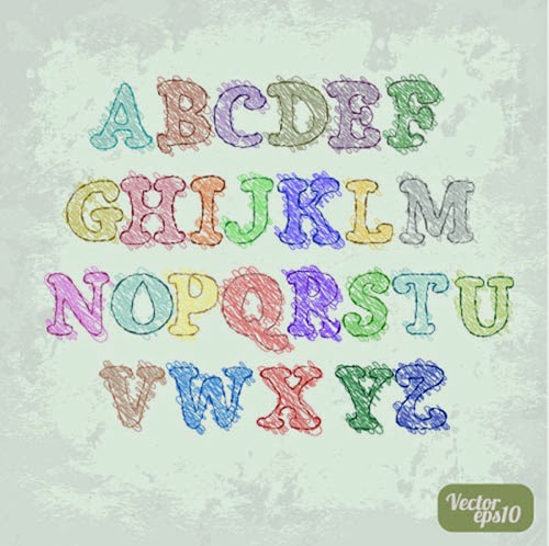 Colorful Letters Alphabet