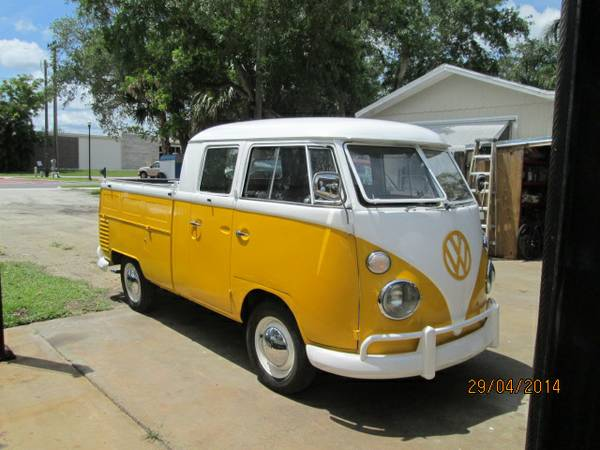 1965 vw double cab for sale buy classic volks. Black Bedroom Furniture Sets. Home Design Ideas