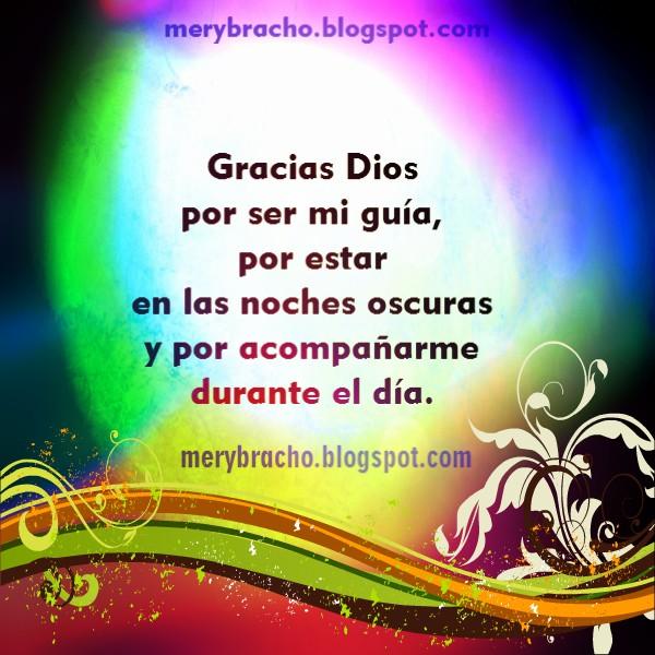 Gracias a Dios en corta oración, imagen con mensaje para Dios, palabras cristianas