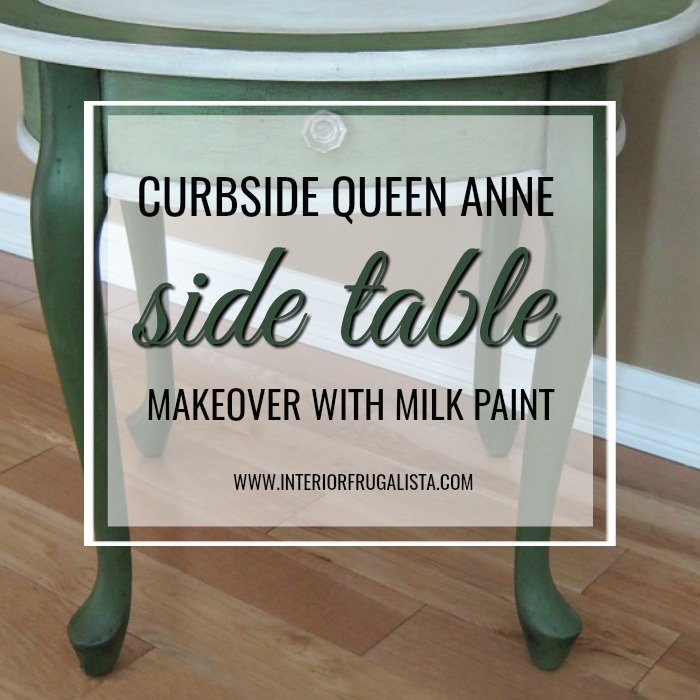 Curbside Queen Anne Table With Milk Paint