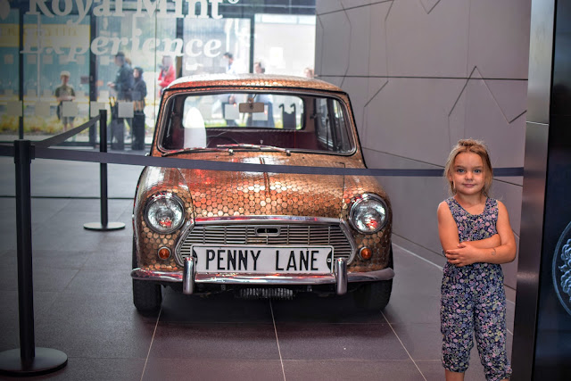 Royal Mint, The Royal Mint Experience, Llantrisant, days out, the Beatles, Penny Lane, mini penny, mini, penny, coin,