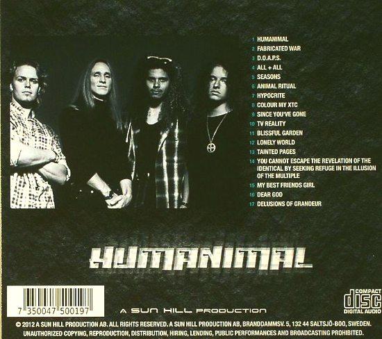 TALISMAN (Jeff Scott Soto) - Humanimal [Deluxe Edition remastered] back