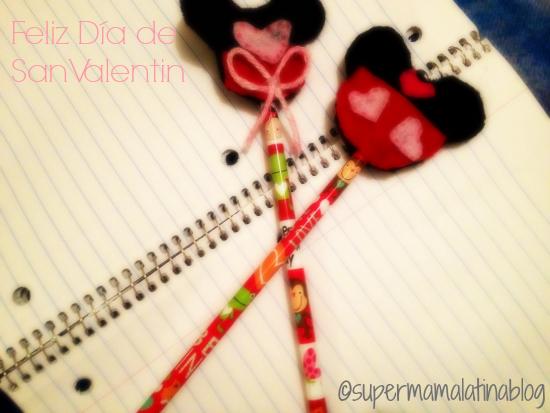 """Lápices """"Mickey y Minnie"""" para el Día de San Valentin"""