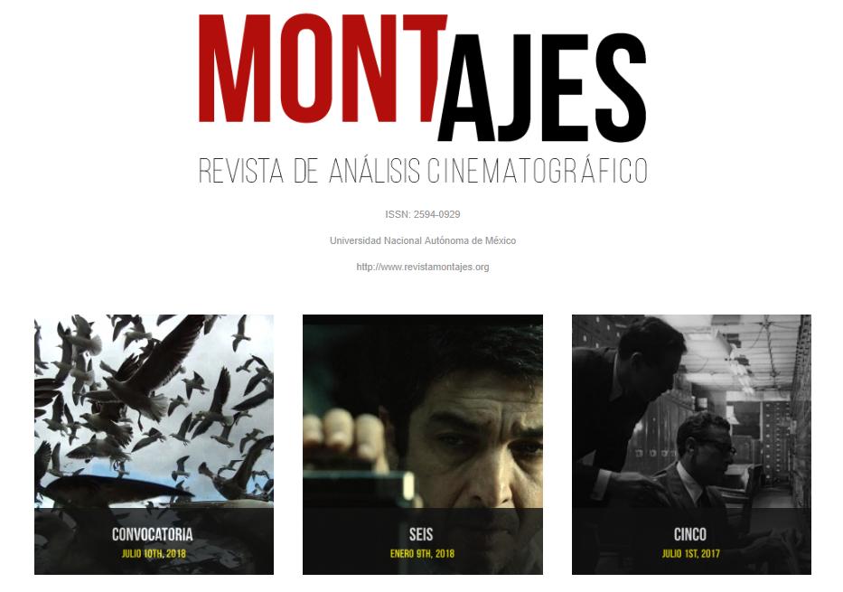 CATÁLOGO Montajes. Revista de análisis cinematográfico