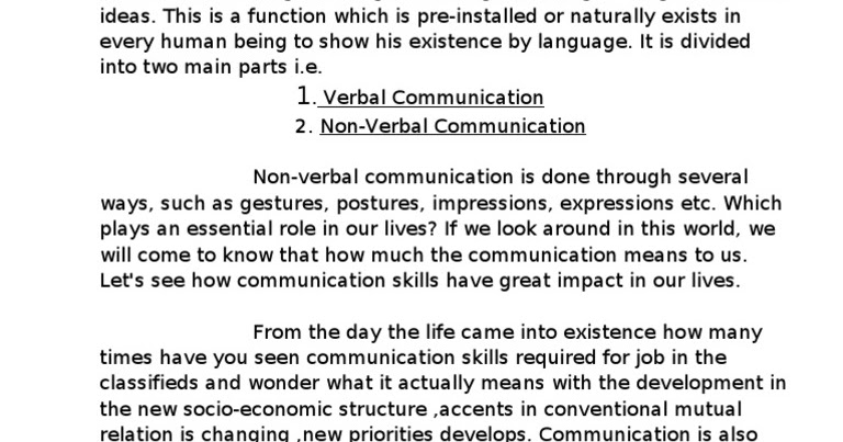 Importance of communication in our daily life