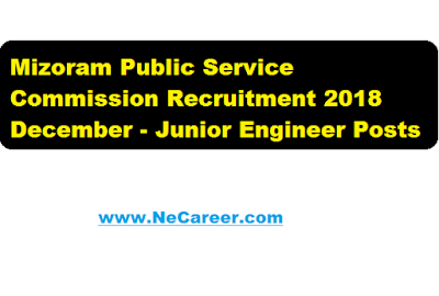 Mizoram Public Service Commission Recruitment 2018