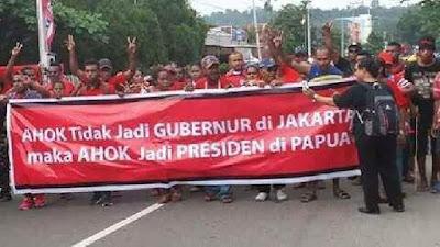 Viral Dukungan Ahok Jadi Presiden Papua, Putera Papua: Siapa yang Ajari Kalian Begitu? Kaka Tidak Setuju