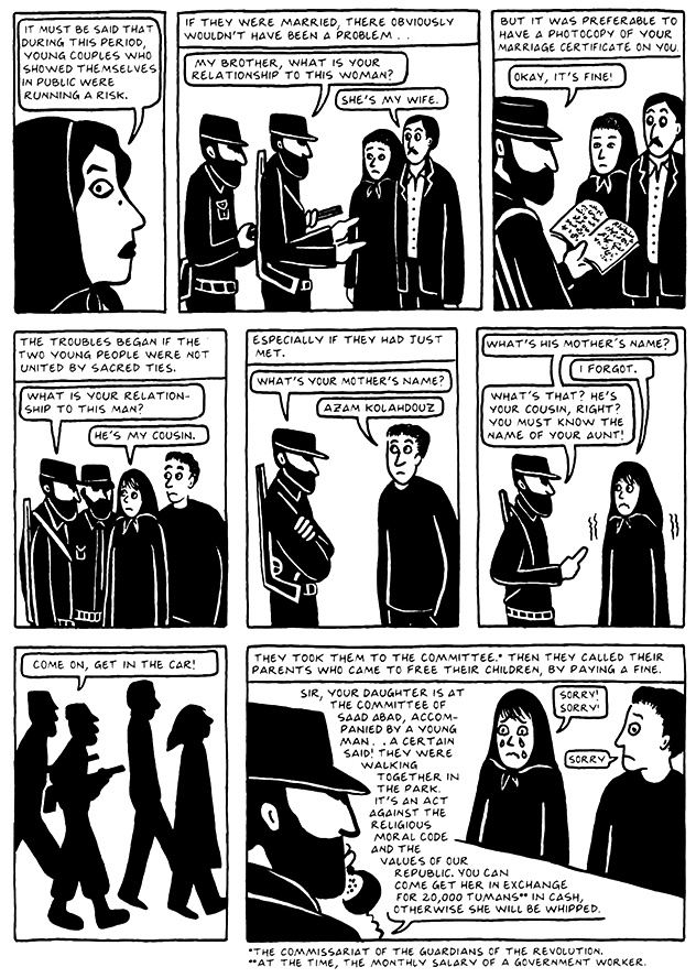 Read Chapter 14 - The Makeup, page 134, from Marjane Satrapi's Persepolis 2 - The Story of a Return