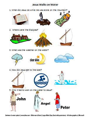 Jesus & Peter walk on Water lesson, ideas and printables #Biblefun # ...
