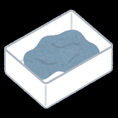 粘土ケースのイラスト(開いた状態・油粘土)