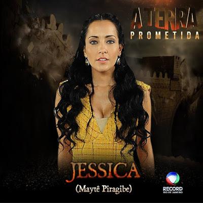 Jessica da novela A Terra Prometida, da Rede Record