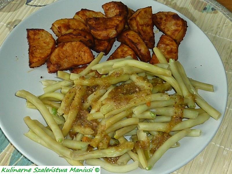 Pieczone ziemniaki i fasolka :-)