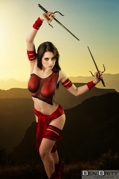 Body Painting sexy cosplay - Elektra